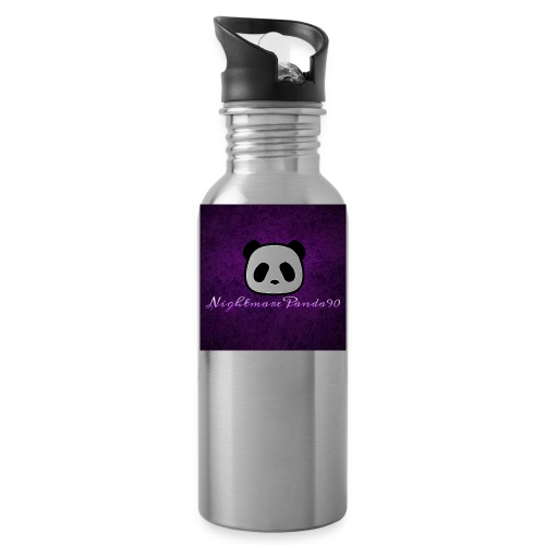 nightmare panda watermark - Water Bottle
