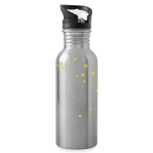 Frühling Schwan Blüten Schmetterlinge Valentinstag - Water Bottle