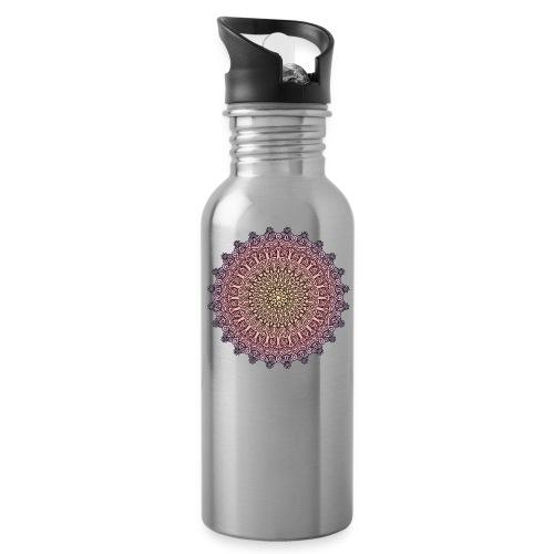 Mandala Sonnenuntergang - Trinkflasche