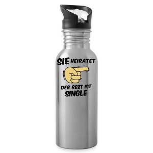 Sie heiratet, der Rest ist Single - JGA T-Shirt - Trinkflasche