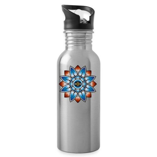 Psychedelisches Mandala mit Auge - Trinkflasche