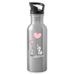 cute elephants - Water Bottle