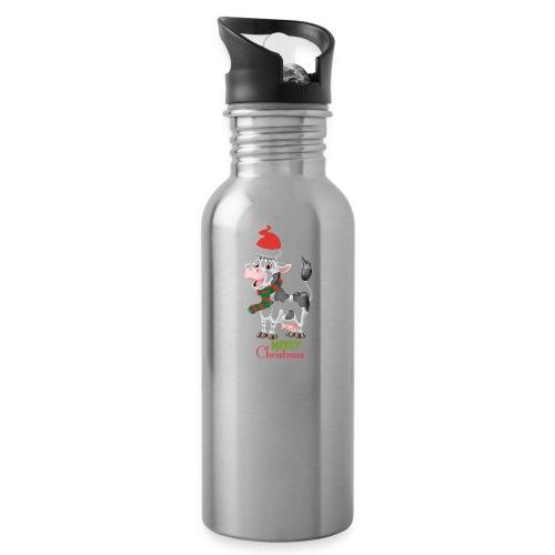 Merry Christmas - cow - Vattenflaska