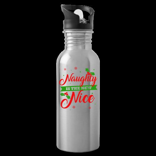 Weihnachten   unartig artig nett - Trinkflasche