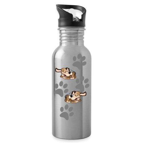 2 liegende Hunde - Trinkflasche