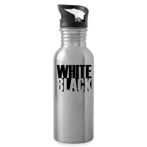 White, Black T-shirt - Drinkfles