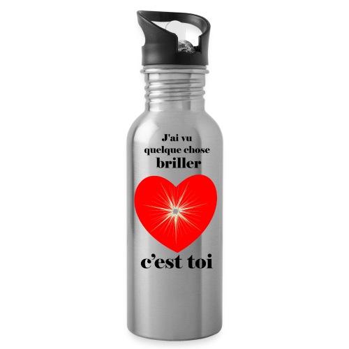 Coeur brillant ...amoureux ou inspiré FC - Gourde