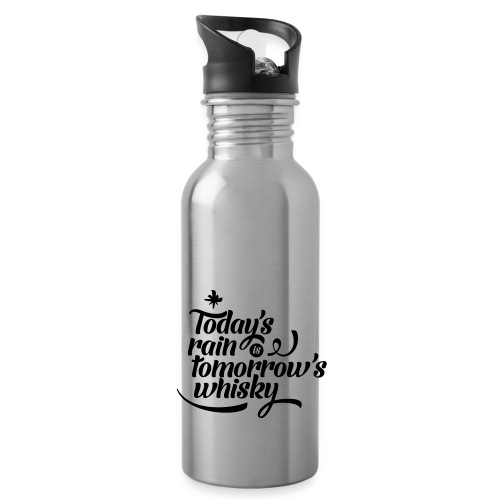 Todays's Rain Women's Tee - Quote to Front - Water bottle with straw