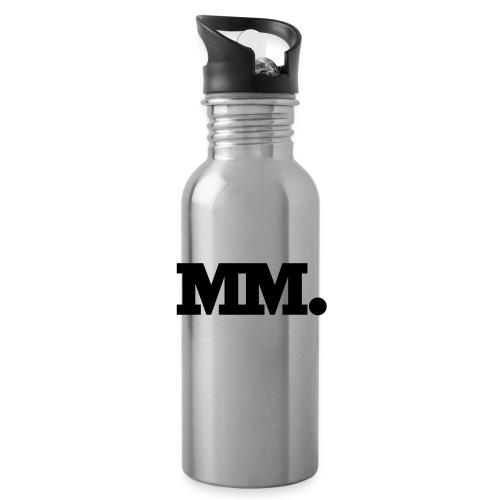 mm logo - Trinkflasche mit integriertem Trinkhalm