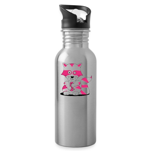 randolpf the raging racoon Digitalmotiv - Trinkflasche