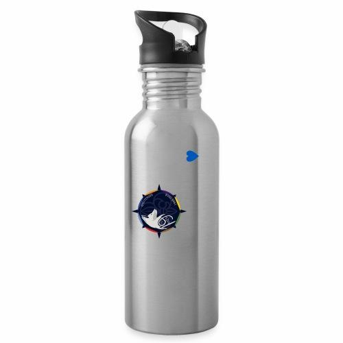 Pulli 70 Jahre II - Trinkflasche mit integriertem Trinkhalm