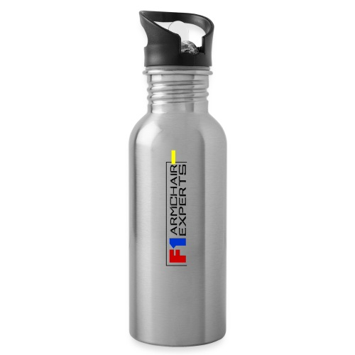 F1 Armchair Experts Logo BK - Water bottle with straw