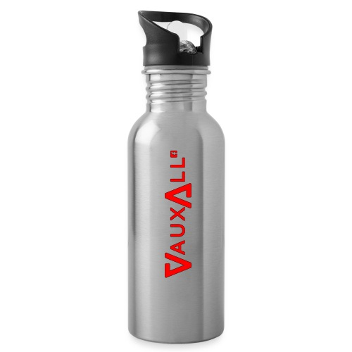 VauxAll Logo | Red | Original - Water bottle with straw