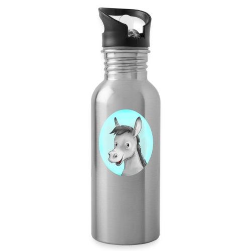 Theo - Trinkflasche mit integriertem Trinkhalm