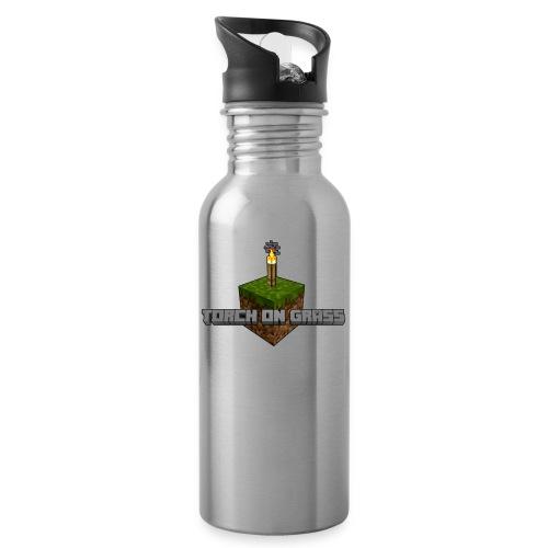 TorchOnGrass logo - Drinkfles met geïntegreerd rietje