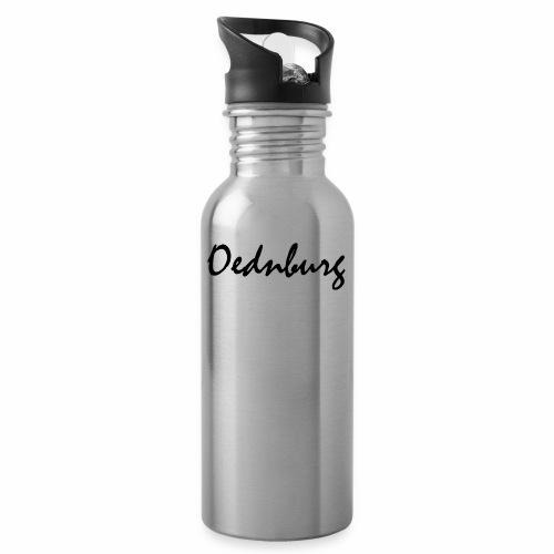 Oednburg Zwart - Drinkfles met geïntegreerd rietje