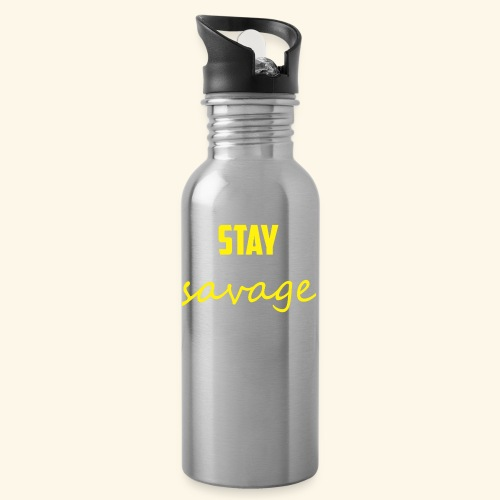 Stay Savage - Water bottle with straw