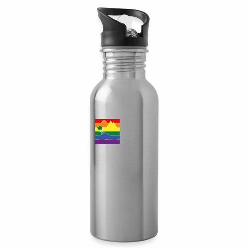GOC Logo White Text - Water bottle with straw