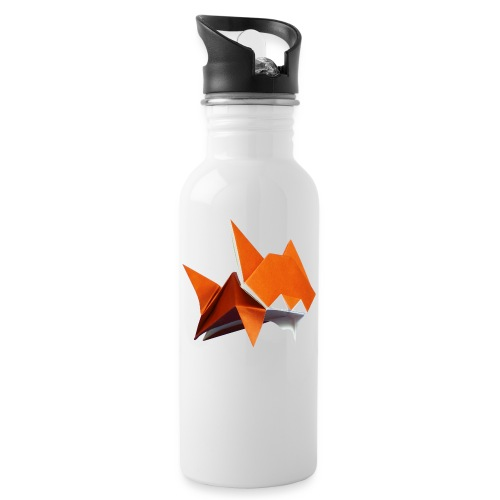 Jumping Cat Origami - Cat - Gato - Katze - Gatto - Water bottle with straw