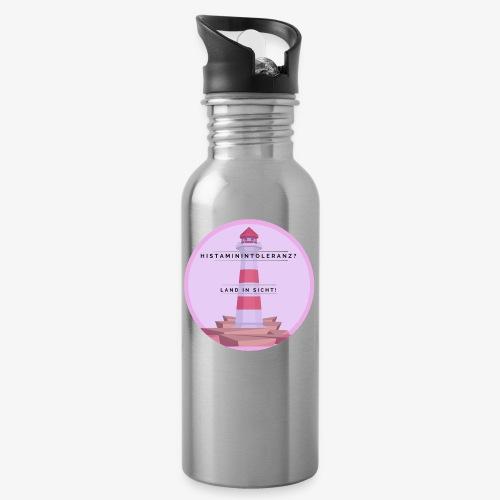 Histaminintoleranz – Land in Sicht - Trinkflasche mit integriertem Trinkhalm
