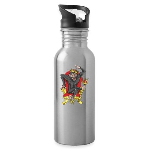 Bitcoin Monkey King - Beta Edition - Trinkflasche mit integriertem Trinkhalm