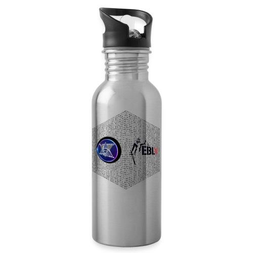 disen o dos canales cubo binario logos delante - Water bottle with straw