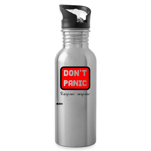don't panic, respirer - Gourde avec paille intégrée