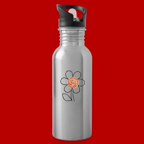 Pizzaflower Edition - Trinkflasche mit integriertem Trinkhalm