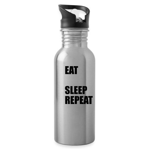 EAT BLEEP SLEEP REPEAT - Water bottle with straw