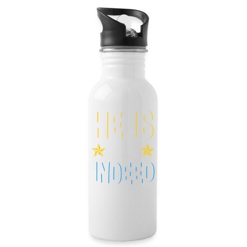 He is risen indeed - Ostern - Trinkflasche mit integriertem Trinkhalm