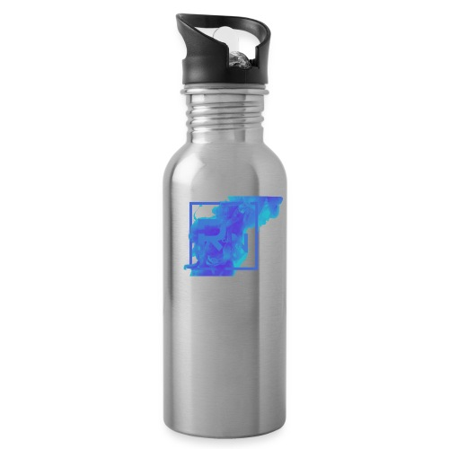 Rouge Nation Logo Smoke Liquid Ink - Water bottle with straw