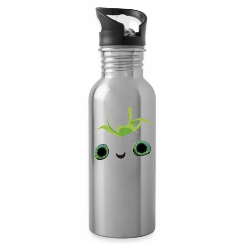 fresa tierna - Botella cantimplora con pajita integrada