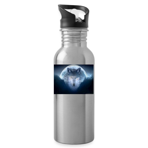 WolfMerch - Water bottle with straw