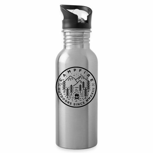 CAMPFIRE - Trinkflasche mit integriertem Trinkhalm