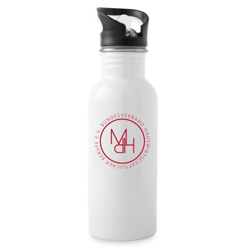MdH-Siegel - Trinkflasche mit integriertem Trinkhalm