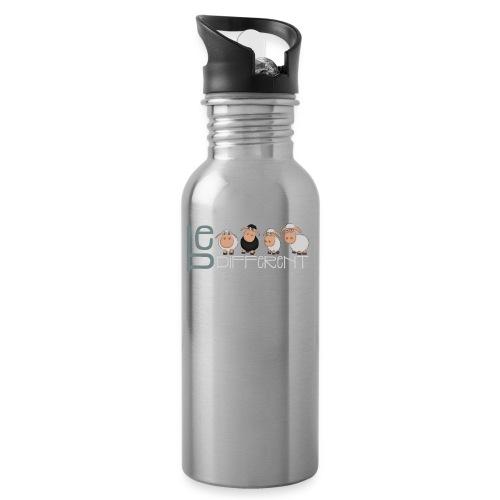 Be different schafe - Lustige einzigartige Schafe - Trinkflasche mit integriertem Trinkhalm
