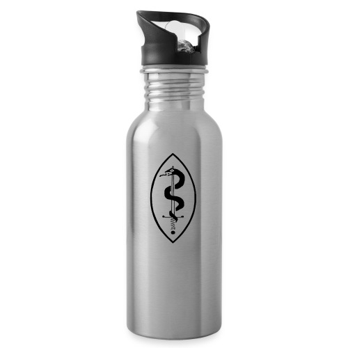 School of Mars Crest (Black) - Water bottle with straw