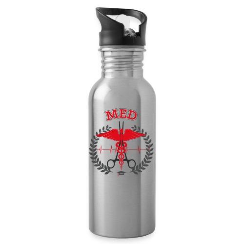 Medicine red - Borraccia con cannuccia integrata