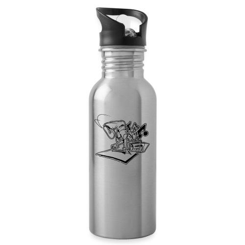 √ Breakdancer handstand - Drikkeflaske med integreret sugerør