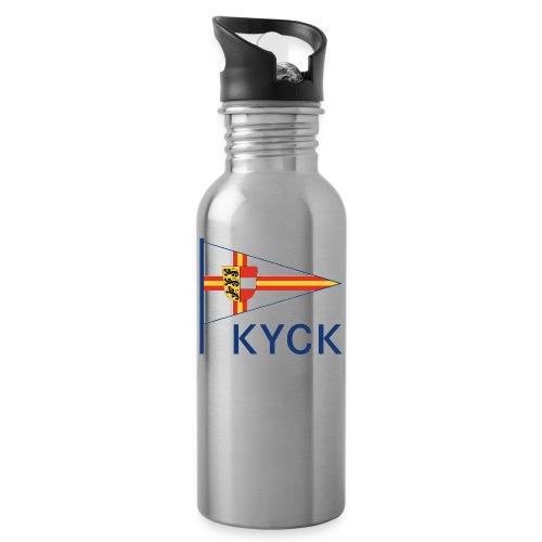 KYCK - classic - Trinkflasche mit integriertem Trinkhalm