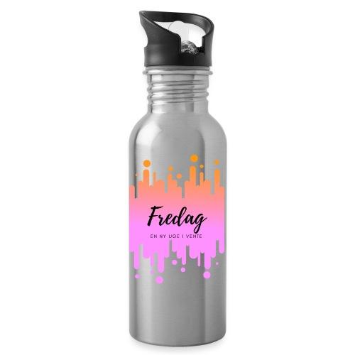 fredag ny uge i vente - Drikkeflaske med integreret sugerør