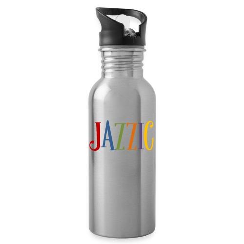 Jazzic Logo - Trinkflasche mit integriertem Trinkhalm