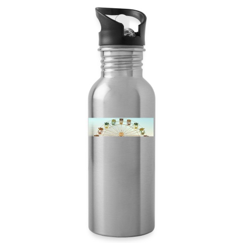 header_image_cream - Water bottle with straw