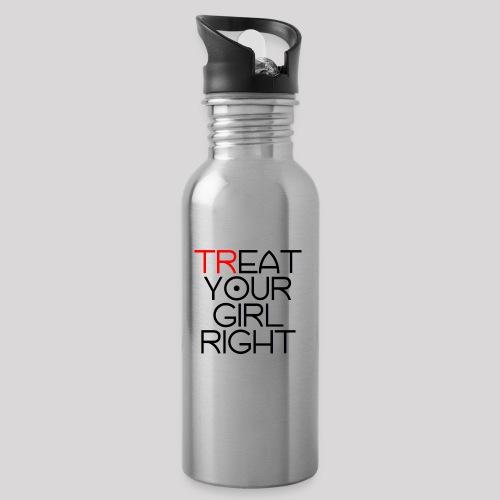 Treat Your Girl Right - Drinkfles met geïntegreerd rietje