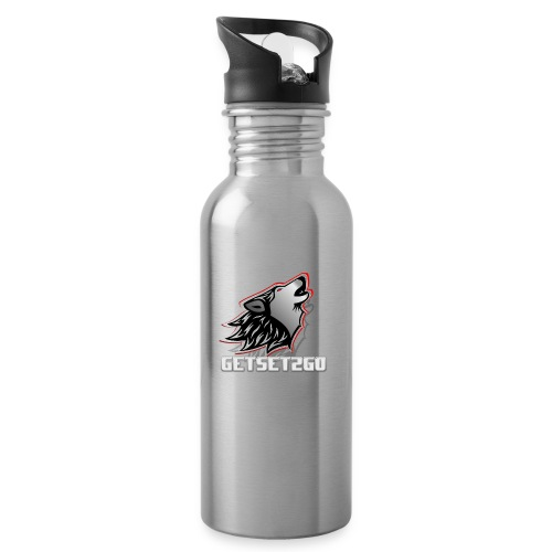 Cap logo - Water bottle with straw
