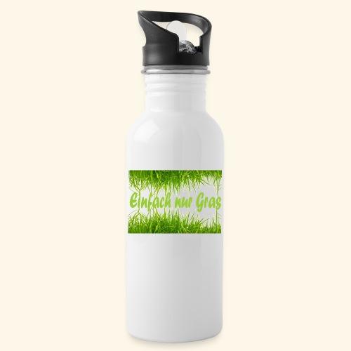 einfach nur gras2 - Trinkflasche mit integriertem Trinkhalm