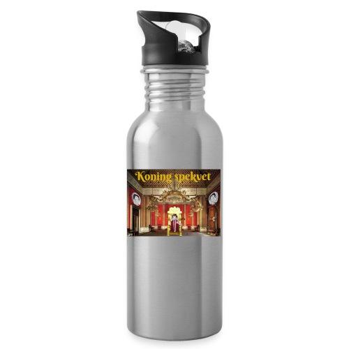 Koning Spekvet - Drinkfles met geïntegreerd rietje
