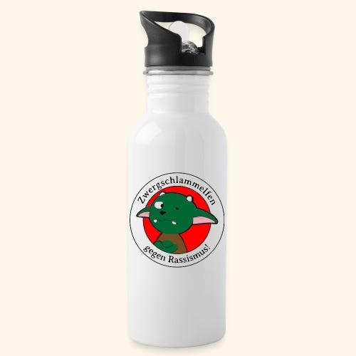 Zwergschlammelfen gegen Rassismus - Trinkflasche mit integriertem Trinkhalm