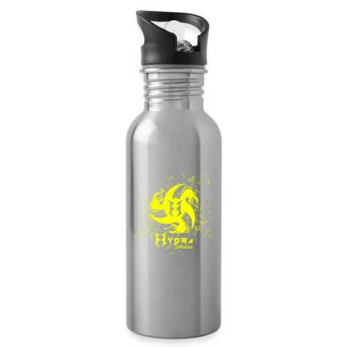 Hydra Design - logo glass explosion - Water bottle with straw