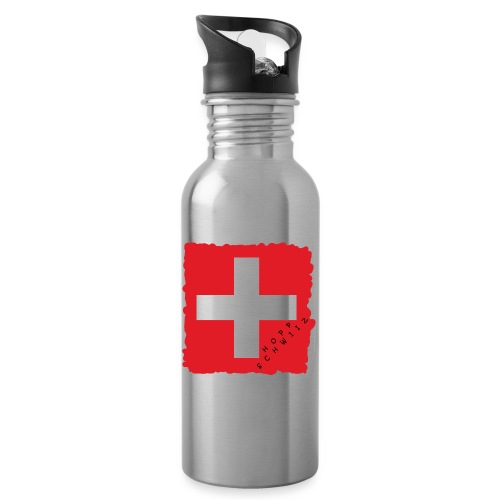 Schweiz 21.1 - Trinkflasche mit integriertem Trinkhalm